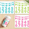 Rainbow Numbers Clipart