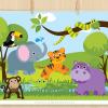 Savannah Zoo Animals Clipart