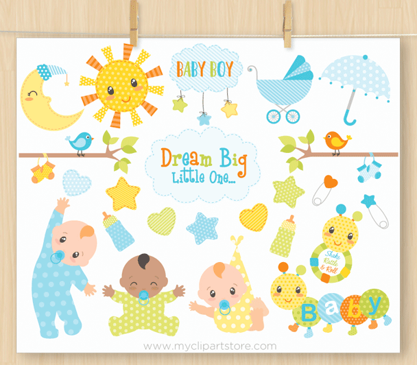 Baby Boy Vector Clipart