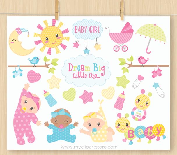 Baby Girl Vector Clipart,