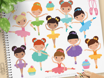 Little Ballerinas clipart