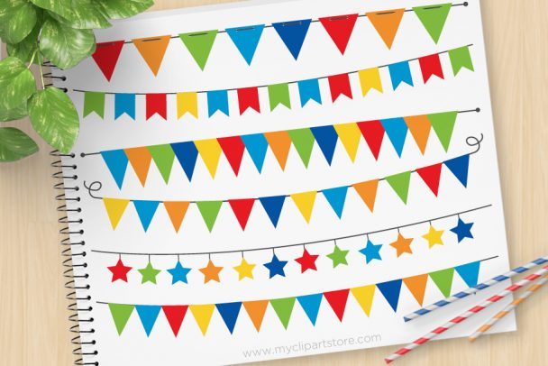 Primary Bunting Clipart