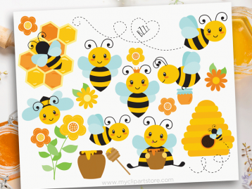 Buzzy Bees Clipart