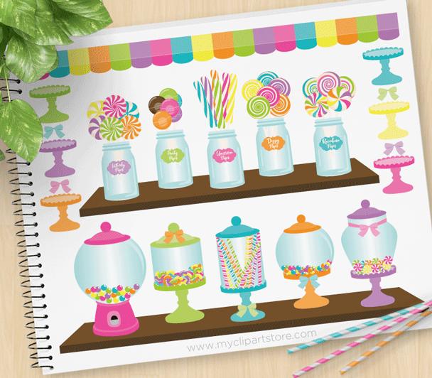 Candy Shoppe Vector Clipart