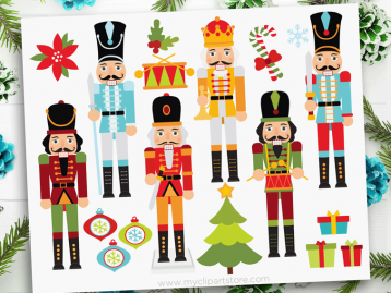 Christmas Nutcrackers Clipart