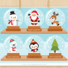 Christmas Snow Globes Clipart