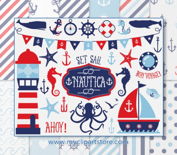 Nautical Boy Vector Clipart