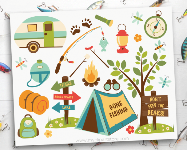 Dad Camping Clipart