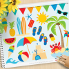 Day At The Beach Clipart