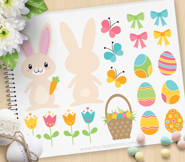 Easter Time Bunny clipart