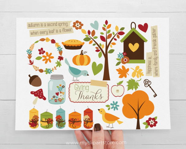 Giving Thanks Fall Clipart