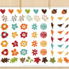 Autumn Floral Wreaths Vector Clipart