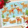 Festive Reindeer Clipart