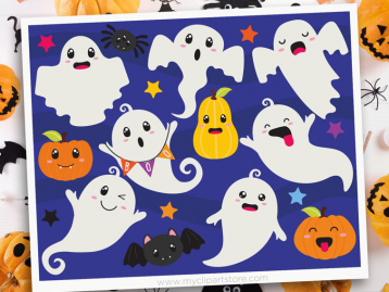 Halloween Ghosts Clipart