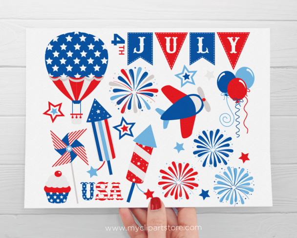 Independence Day, star spangled