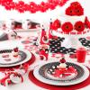 Red Ladybug Garden Vector Clipart
