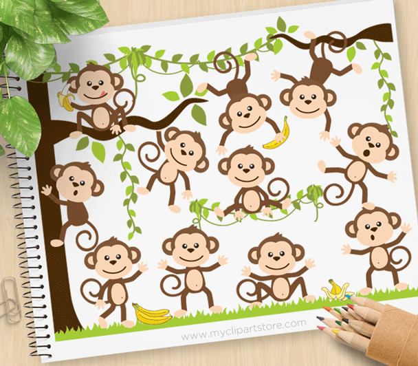 Monkey Around Clipart