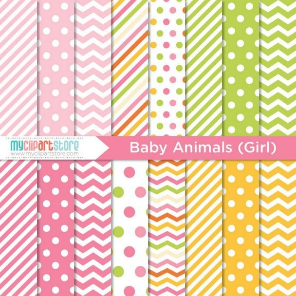 Baby Animals Girl Paper
