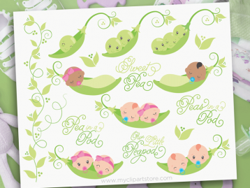 Peas In A Pod Clipart