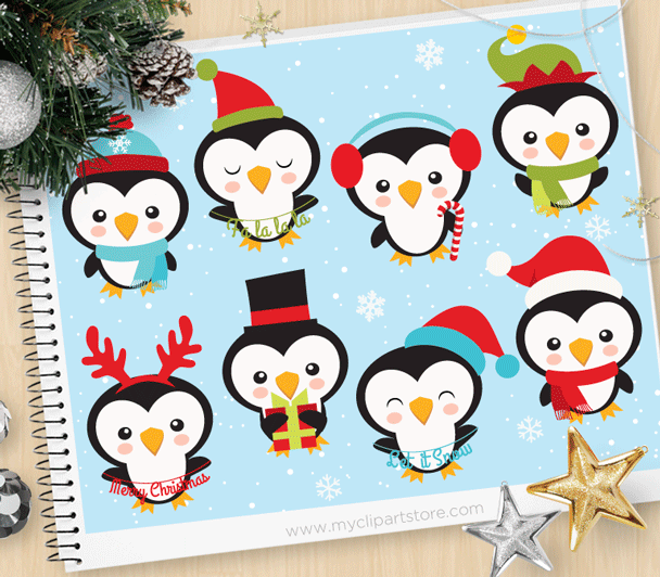 Little Penguins Clipart