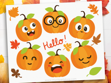 Cute Pumpkins Clipart