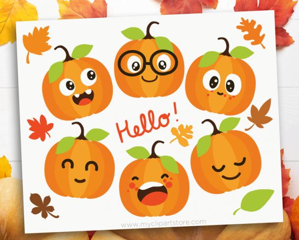 Cute Pumpkins Clipart