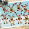Reindeer Games Vector Clipart