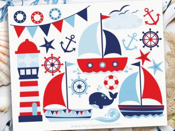 Sail Away Boy Clipart