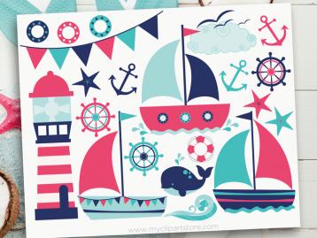 Sail Away Girl Clipart