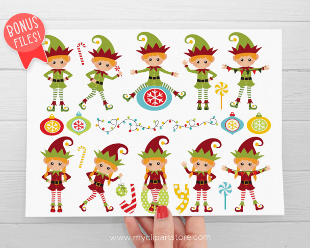 Santa's Elves Clipart