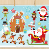 Santa's Workshop Vector Clipart