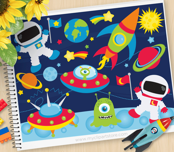 Space Adventures Vector Clipart