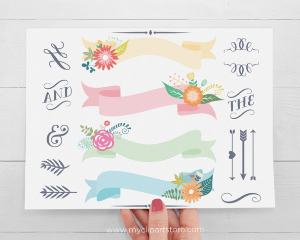 Spring Ribbons Clipart