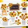 Cottage Sunflowers Clipart