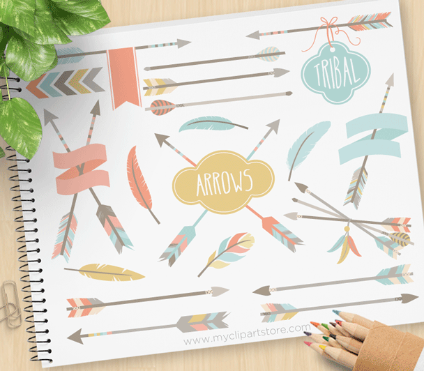 Tribal Arrows (1) Vector Clipart