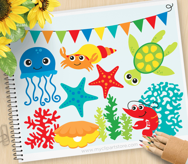 Under The Sea Set 3 Clipart