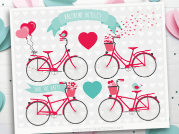 Valentine Bicycles clipart