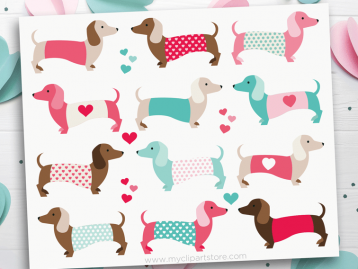 Valentine Puppy Love Clipart