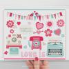 Retro Valentine Elements Clipart