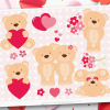Valentine Teddy Bears clipart