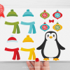 Wintery Penguins Clipart