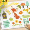 Woodland Whimsy Vector clipart