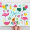 Tropical Flamingos Clipart