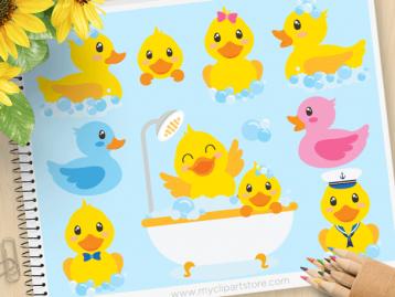 Bath Time Ducky Clipart