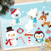Christmas Friends Vector Clipart