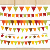 Fall Bunting Clipart