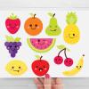 Cute Fruit Kawaii Clipart