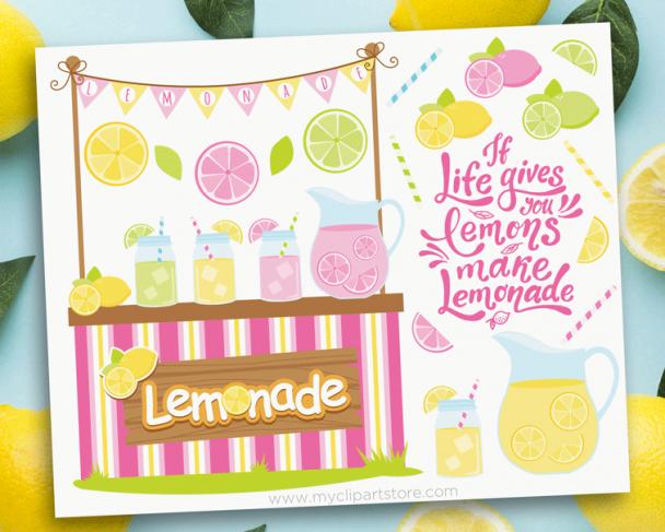Lemonade Stand Clipart