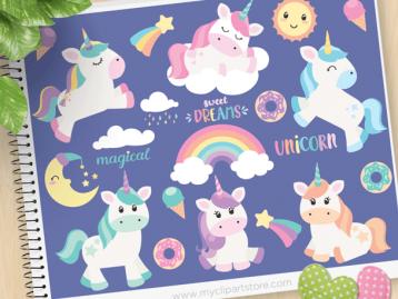 Magical Unicorns Clipart