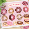 Donuts Sprinkles Vector Clipart